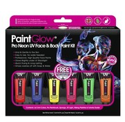 PaintGlow PaintGlow Pro Neon UV Face & Body Paint 6 x13ml