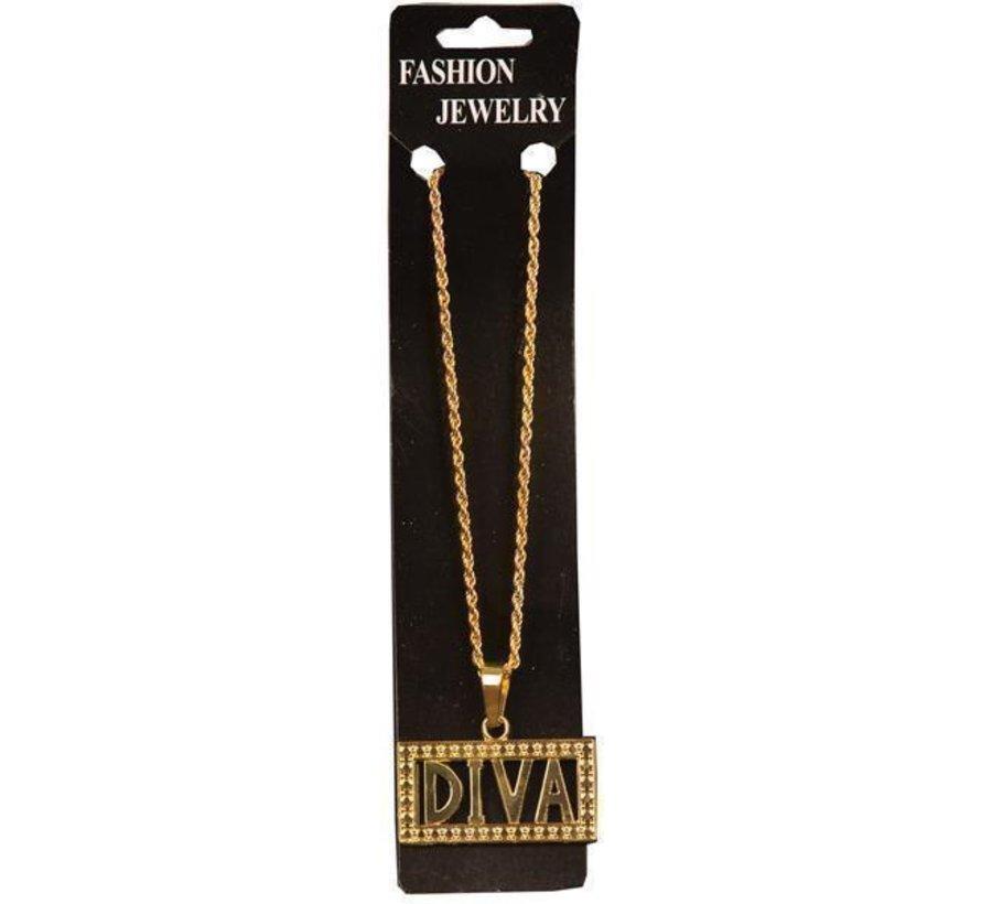 Halsketting Diva | Gouden ketting