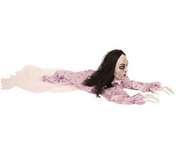 Partyline Kruipende zombie vrouw 150 cm | Halloween decoratie
