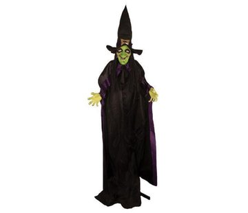 Partyline Witch 125 cm | Light and sound Halloween decoration