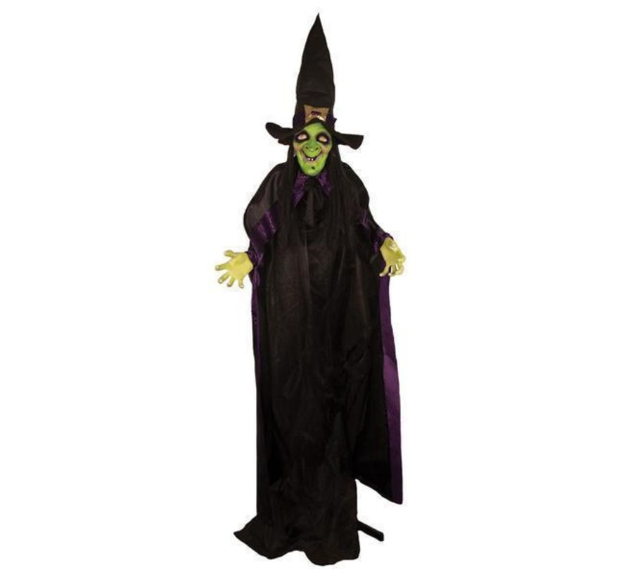 Witch 125 cm | Light and sound Halloween decoration