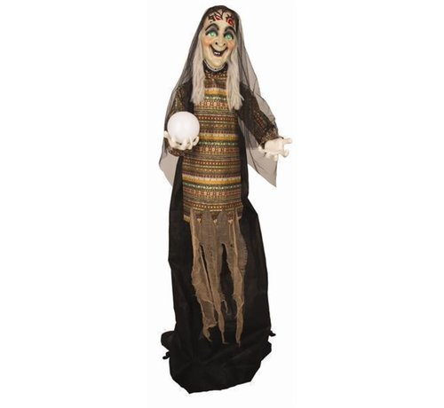 Partyline Deco standing fortune teller 170 cm | Light and sound Halloween decoration