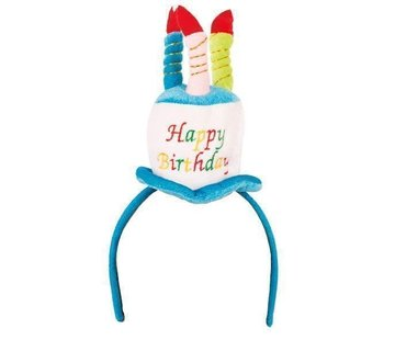 Partyline Hoed Happy Birthday op diadeem