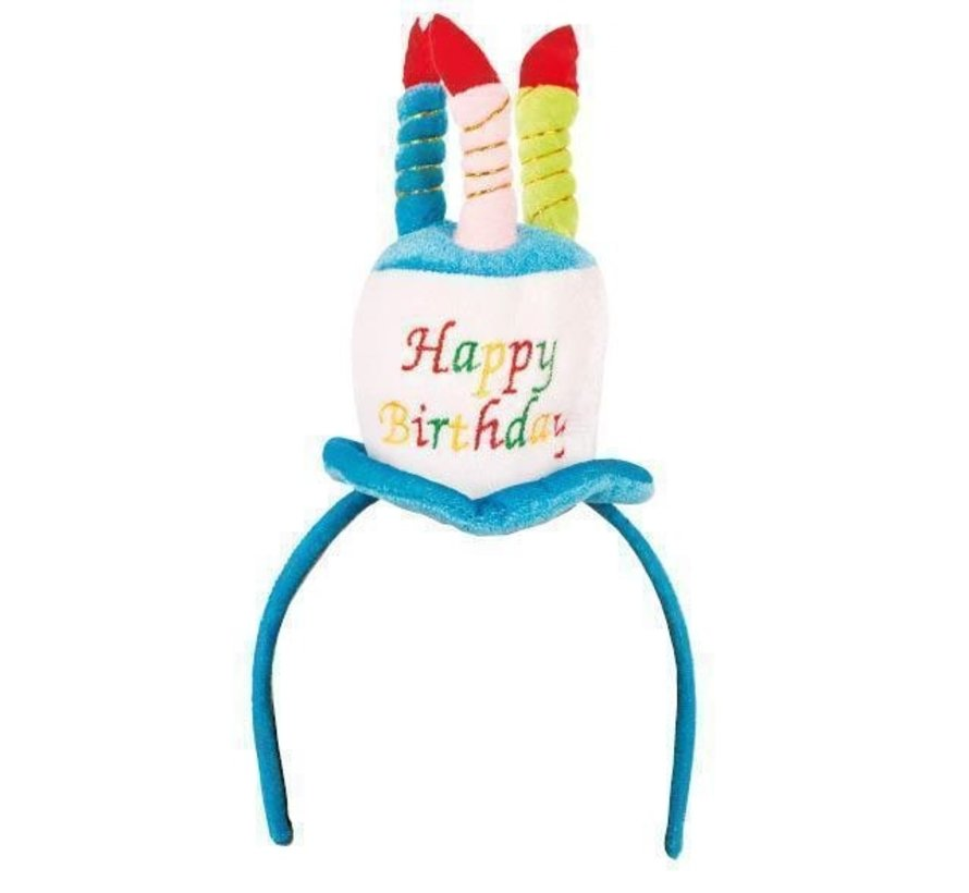 Hat Happy Birthday on diadem