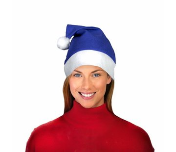 Breaklight.be Blue Santa Hat