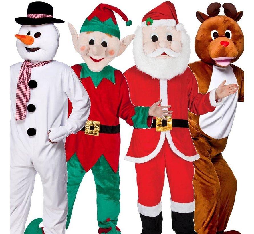 Kerstman Mascot Kostuum
