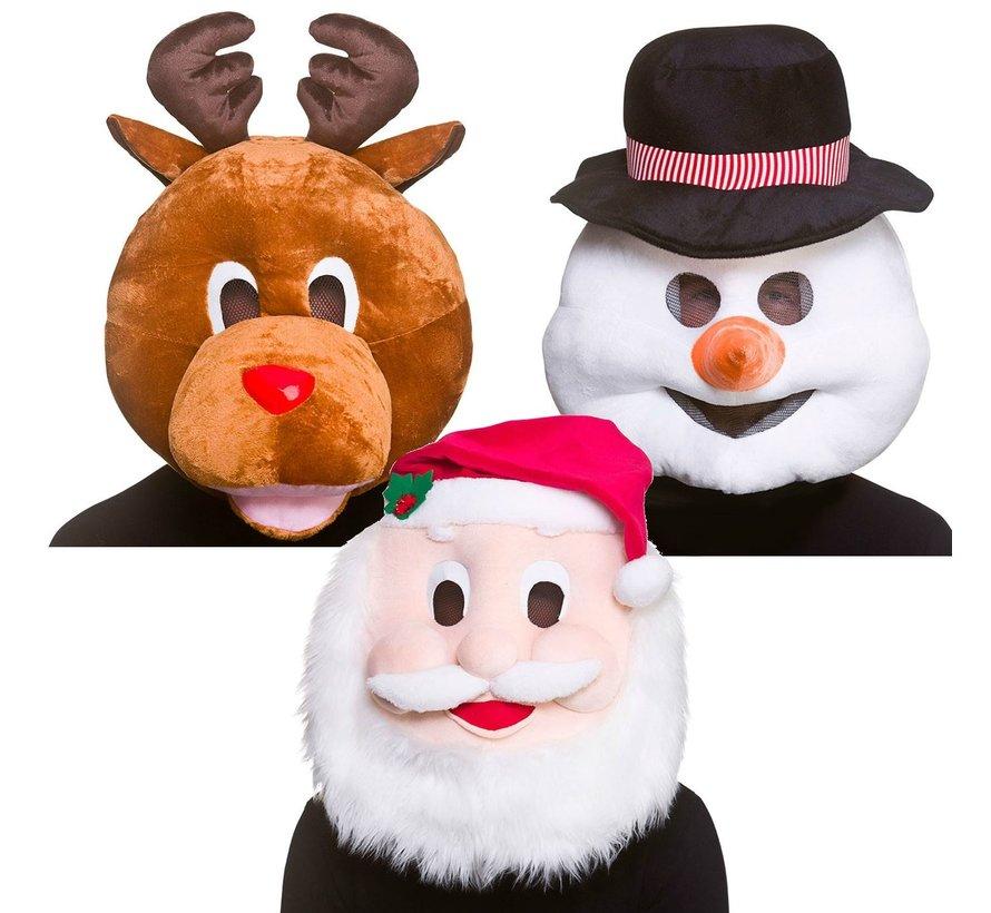 Kerstman Mascot Hoofd