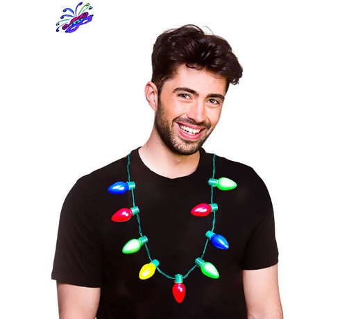 Wicked Costumes  Christmas Light Necklace - 9 LEDS