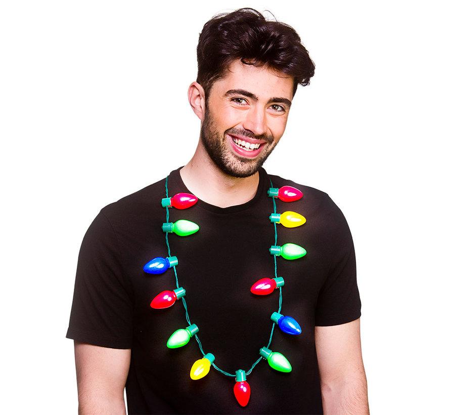 Kerstboom lichtjes halsketting  - 13 LEDS
