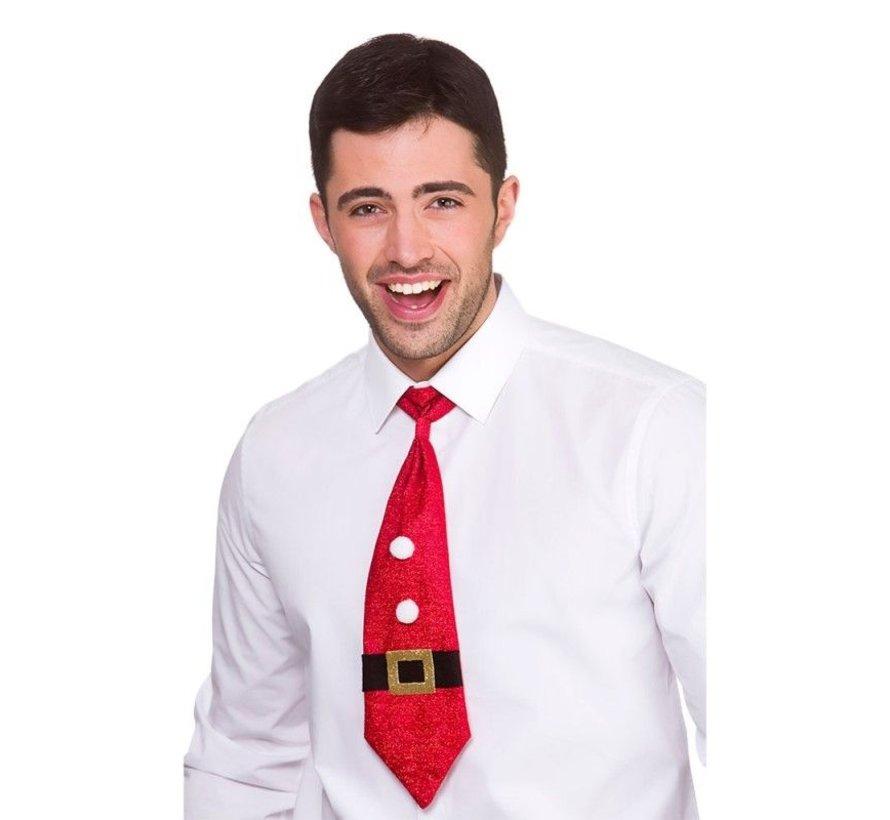 Glittery Christmas Tie - Santa