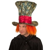 Partyline Chapeau Mad aux cheveux orange