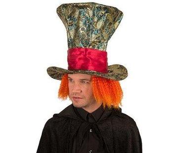 Partyline Hat Mad with orange hair