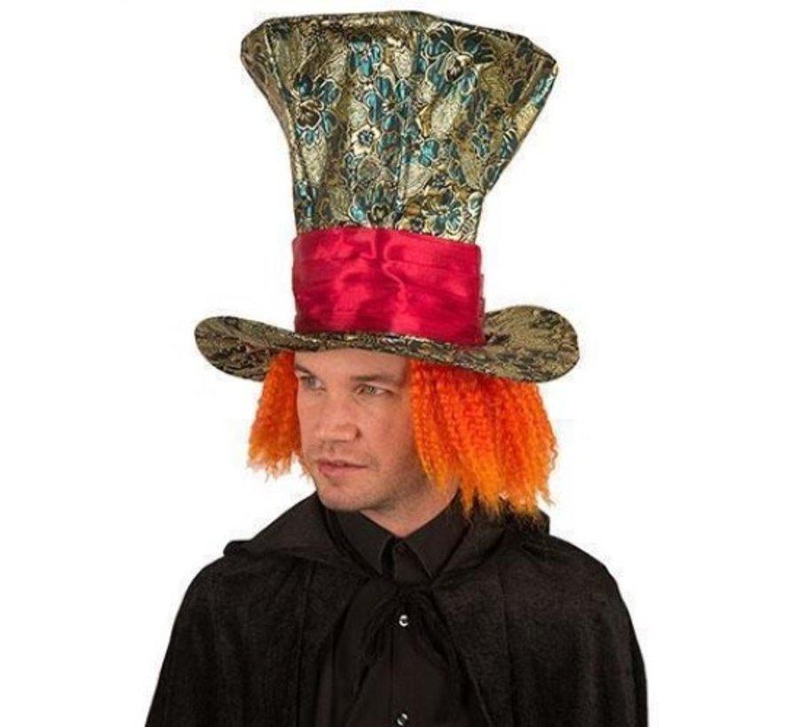 Chapeau Mad aux cheveux orange