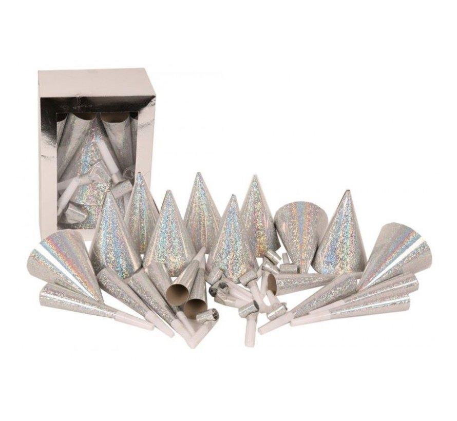30-delig Partypakket ( zilver ) voor 10 personen