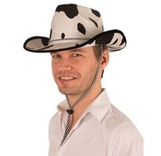 Partyline Cowboy hat with cow print