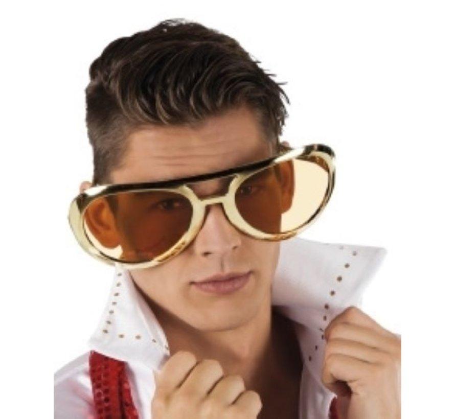 Mega Gouden Elvis Bril