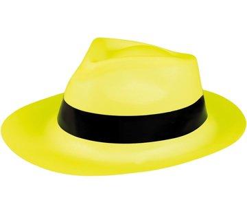 Partyline Neon gele gangster hoed