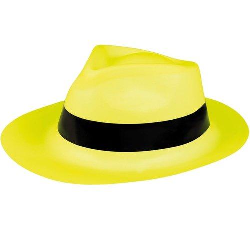 Partyline Neon gele ganster hoed