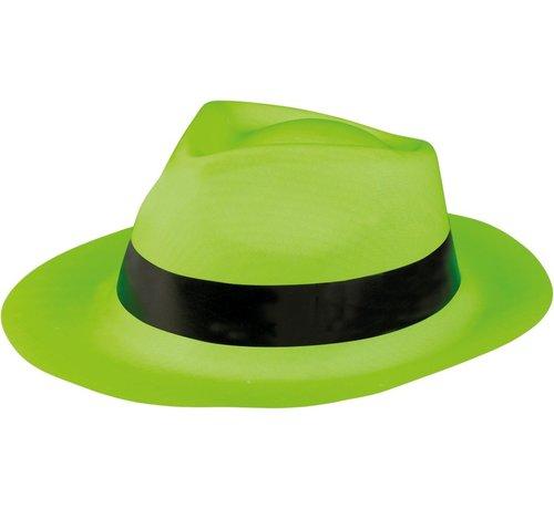 Partyline Neon groene gangster hoed