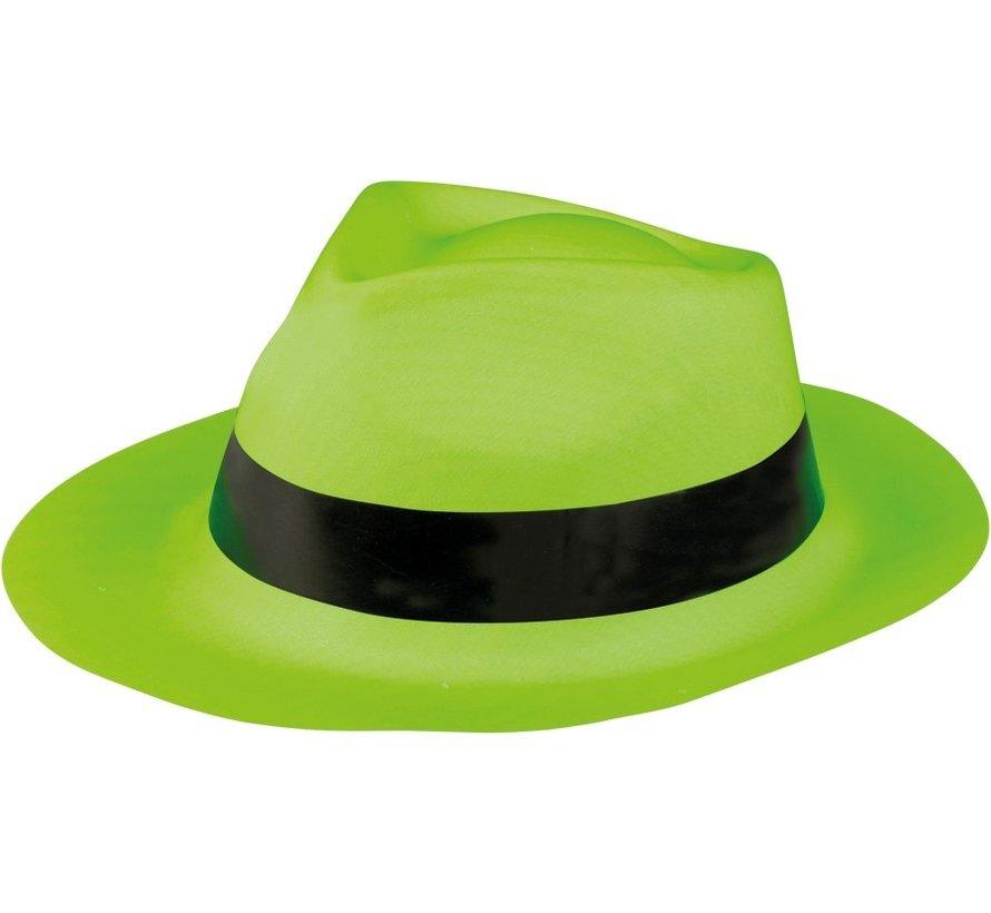 Chapeau de bandit vert fluo