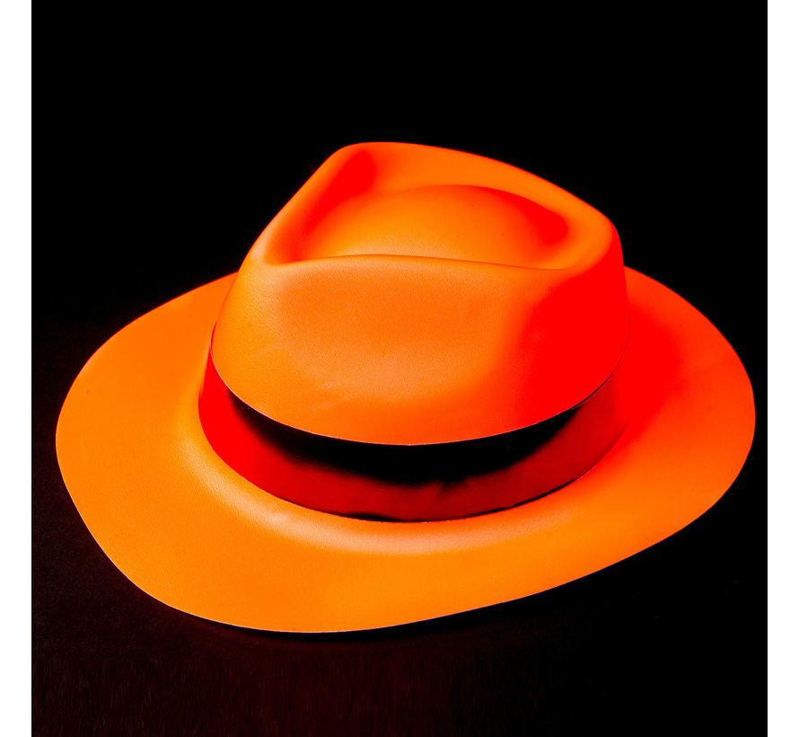 Neon orange bandit hat