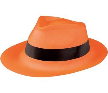 Partyline Neon oranje gangster hoed