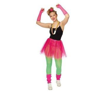 Partyline Neon Roze Tutu 4 ledige set