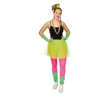 Partyline Neon Groene Tutu 4  delige set