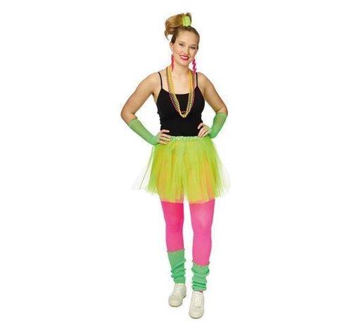 Partyline Neon green Tutu 4 parts set