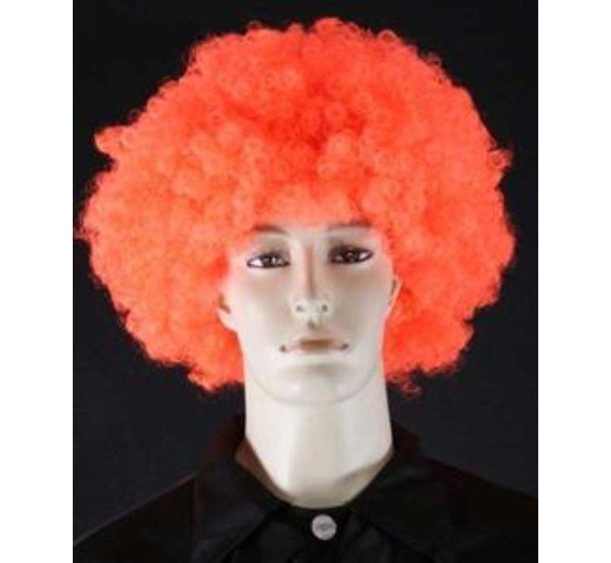 Neon Afro Wig Curler Orange