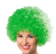 Partyline Neon Afro Pruik Krullenbol Groen