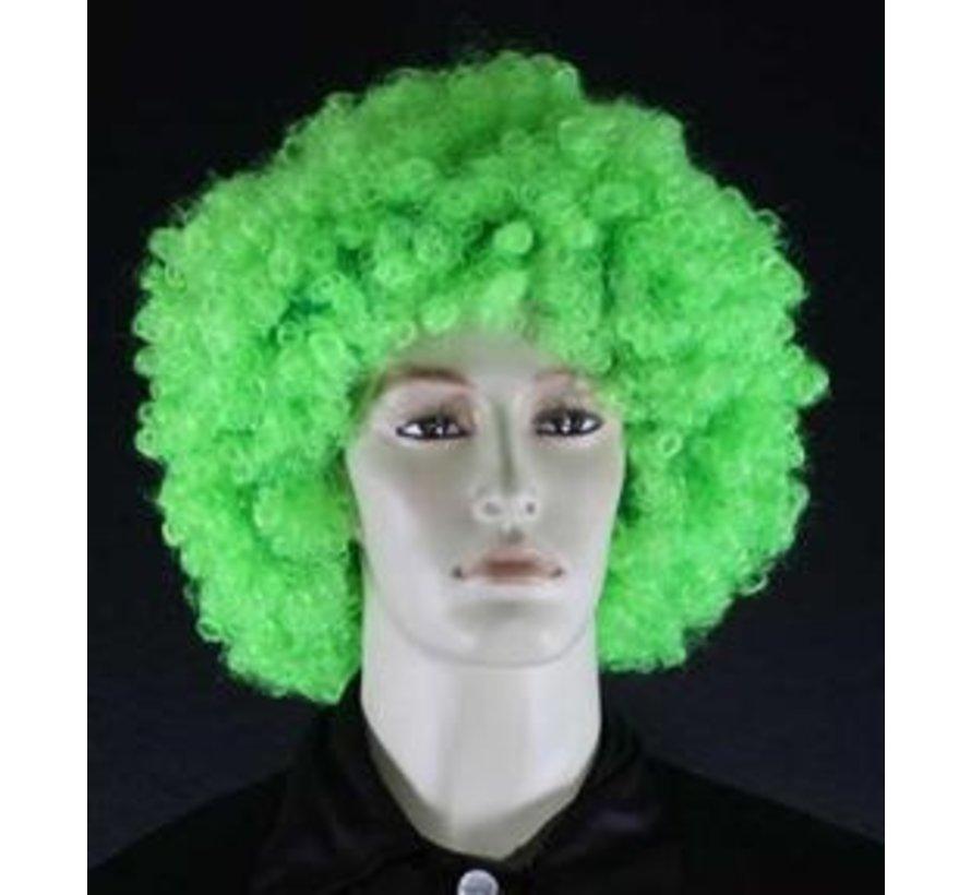 Neon Afro Wig Curler Green