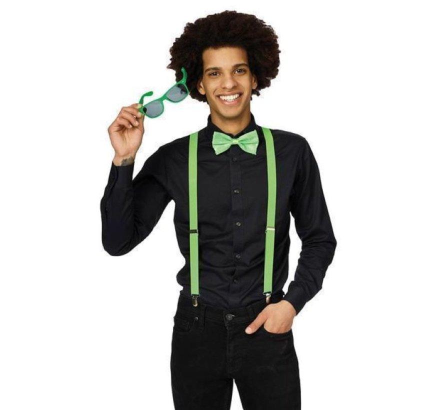 Fluo neon groene Accessoire set