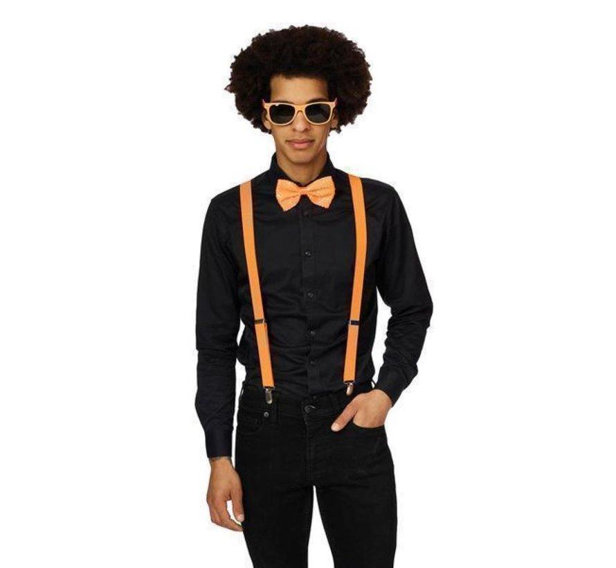Fluo neon oranje Accessoire set