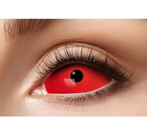 Eyecatcher Full Red Eye lentilles Sclera 22 mm