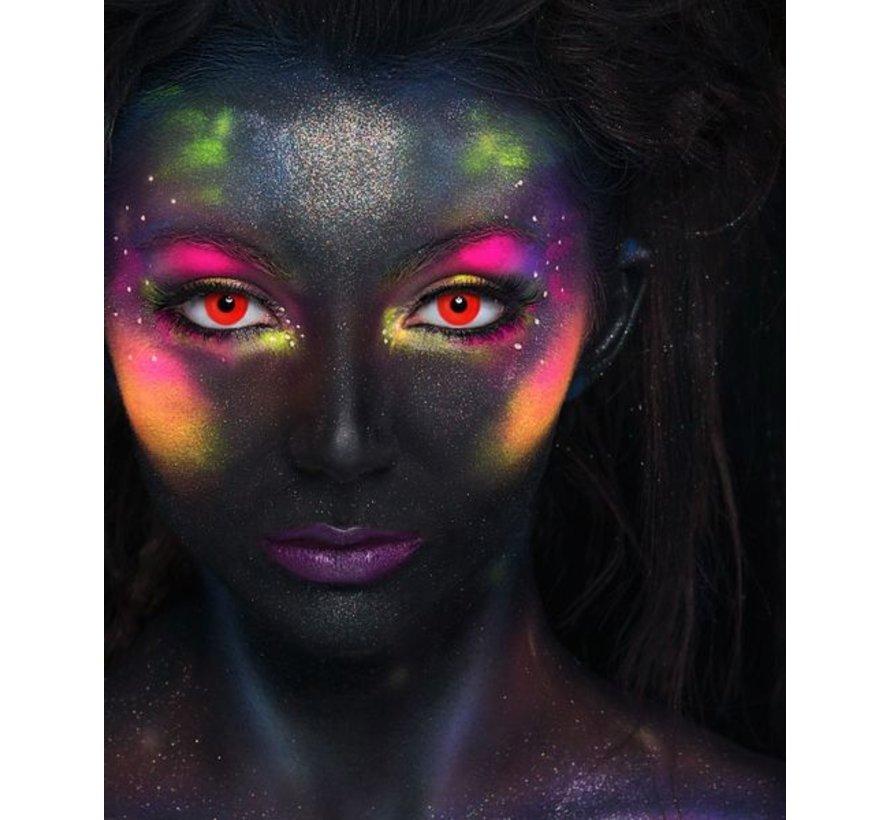 UV lentilles de couleur Rouge | lentilles annuelles