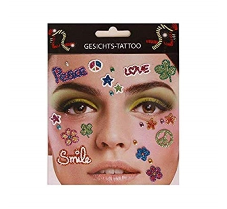 Face Tattoo Stickers   Peace in heaven