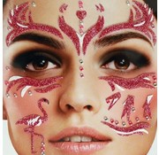 Zoelibat Tatouage autocollant visage | Purple Flamingo