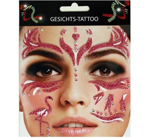 Zoelibat Gezicht Tattoo Stickers | Purple Flamingo
