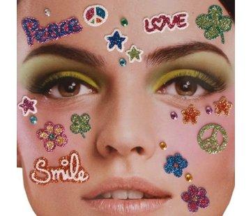 Zoelibat Tatouage autocollant visage | Peace in heaven