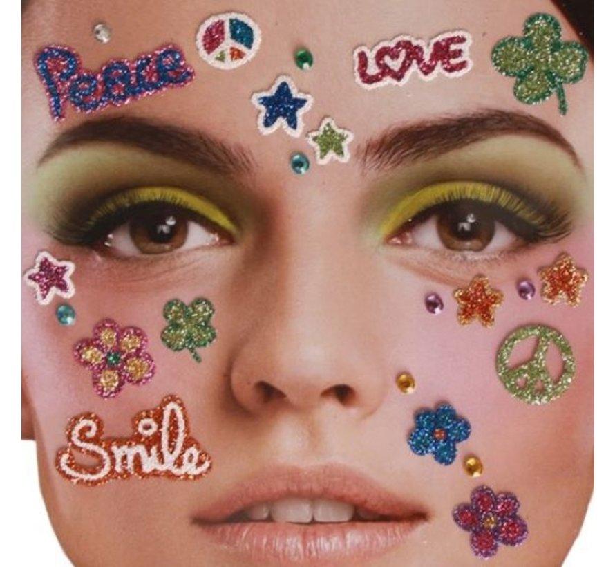 Tatouage autocollant visage | Peace in heaven