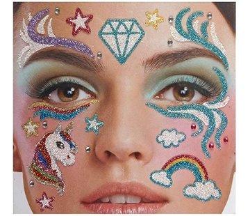 Zoelibat Tatouage autocollant visage | Unicorn Dreams