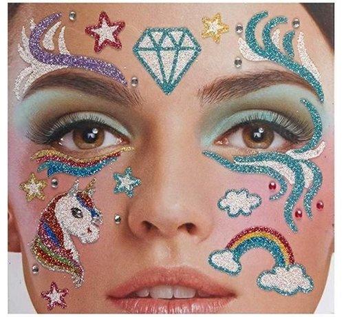 Zoelibat Face Tattoo Stickers | Unicorn Dreams