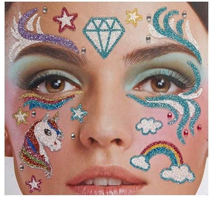 Face Tattoo Stickers | Unicorn Dreams