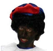 Partyline Zwarte pieten Muts ( Blauw/Rood )