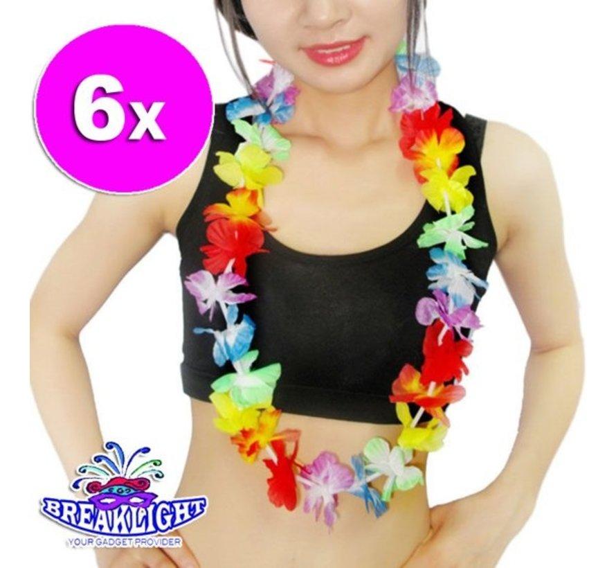 6 x Guirlande de fleurs hawaïennes