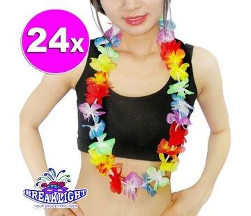 Breaklight.be 24 x Guirlande de fleurs hawaïennes