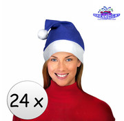 Breaklight.be 24 x Blauwe kerstmuts