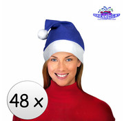 Breaklight.be 48 x Bonnet de Noel Bleu