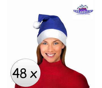 Breaklight.be 48 x Blue Santa Hat